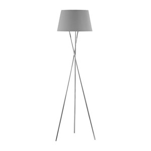 Uptown Polished Nickel One-Light Floor Lamp