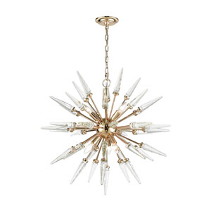 Monroe Six-Light Sputnik Pendant with Clear Crystal