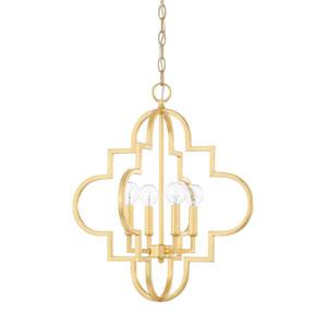 Whittier Gold 18-Inch Four-Light Pendant