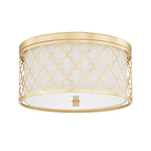 Whittier Gold Three-Light Flush Mount