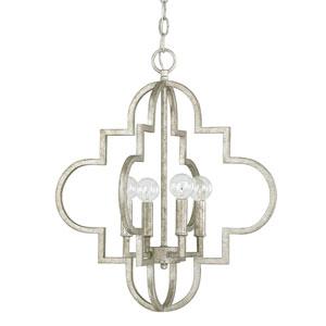 Whittier Antique Silver 19-Inch Four-Light Pendant