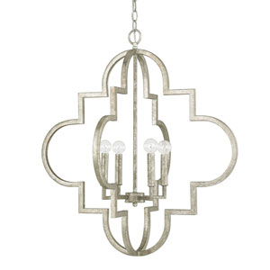 Whittier Antique Silver Four-Light Pendant