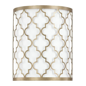 Whittier Brushed Gold Two-Light Wall Sconce
