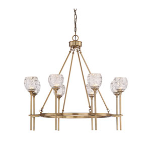 Vivian Brass Eight-Light Chandelier