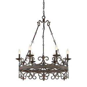 Wellington Iron Six-Light Chandelier