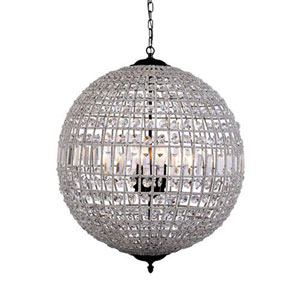 Vivian Dark Bronze Three-Light Pendant with Royal Cut Clear Crystal