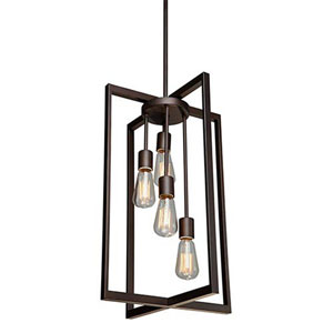 Fulton Oil Rubbed Bronze Four-Light Pendant