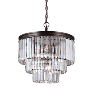 Cooper Bronze Four-Light Chandelier