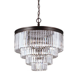 Cooper Bronze Six-Light Chandelier