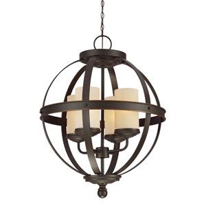 Afton Bronze Four-Light Chandelier