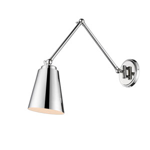 Selby Polished Nickel One-Light Swing Arm Sconce