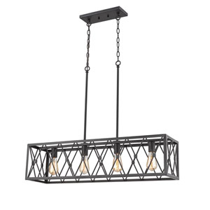 Fulton Bronze Four-Light Island Pendant