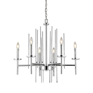 Cooper Polished Chrome Six-Light Chandelier