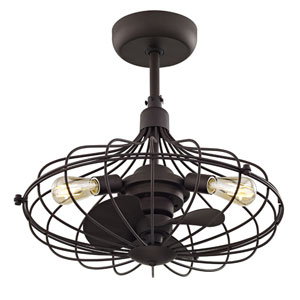 River Station Aged Bronze 19-Inch Three-Light Ceiling Fan