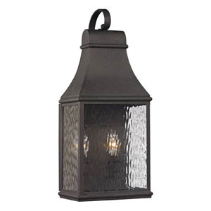 Kenwood Charcoal 19-Inch Two Light Outdoor Wall Sconce