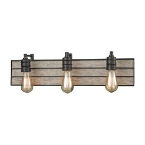 River Station Oil Rubbed Bronze Three-Light Vanity