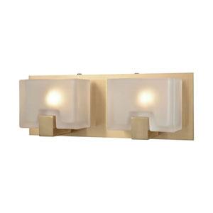 Nicollet Satin Brass Two-Light Vanity