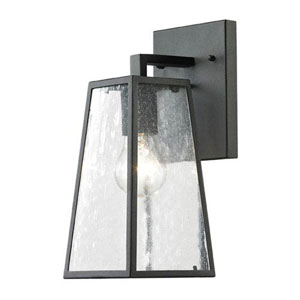 Uptown Matte Black 14-Inch One Light Outdoor Wall Sconce