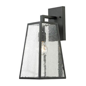 Uptown Matte Black One Light Outdoor Wall Sconce
