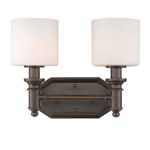 Evelyn Rubbed Bronze Two-Light Vanity