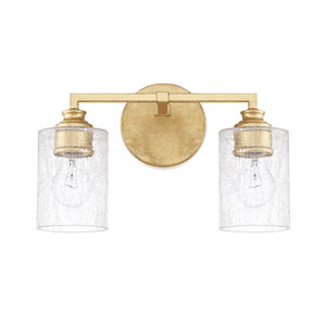 Cooper Gold Two-Light Bath Vanity