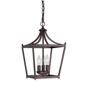Hayden Burnished Bronze Three-Light Foyer Pendant