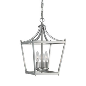Grace Brushed Nickel Three-Light Foyer Pendant