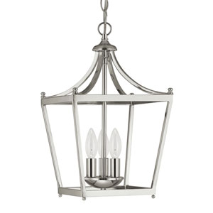 Grace Polished Nickel Three-Light Foyer Pendant