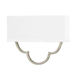 Whittier Antique Silver Two-Light Sconce