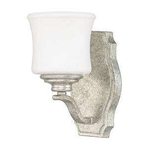 Whittier Antique Silver One-Light Sconce