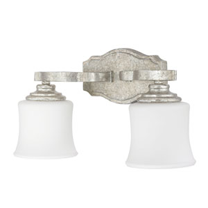 Whittier Antique Silver Two-Light Vanity
