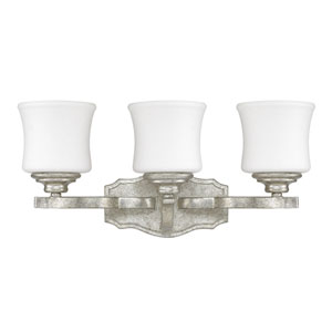 Whittier Antique Silver Three-Light Vanity