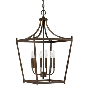 Hayden Burnished Bronze Six-Light Foyer Pendant