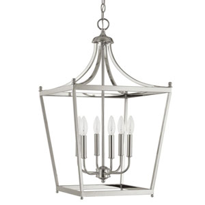 Grace Polished Nickel Six-Light Foyer Pendant