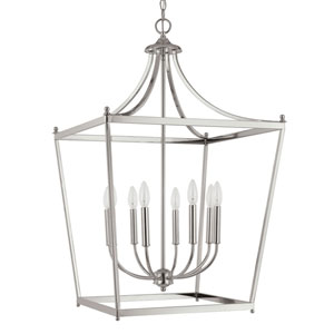 Grace Polished Nickel Eight-Light Foyer Pendant