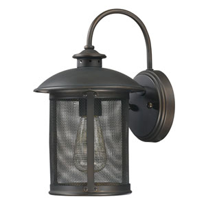 Uptown Old Bronze One-Light Outdoor Metal Wall Lantern
