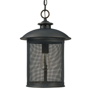 Uptown Old Bronze One-Light Outdoor Hanging Lantern