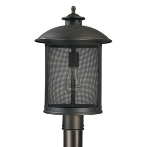Uptown Old Bronze One-Light Outdoor Post Mount