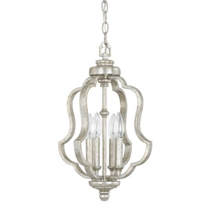 Whittier Antique Silver Four-Light Foyer Fixture