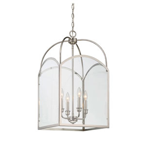 Isles Polished Nickel 15-Inch Four-Light Foyer Pendant