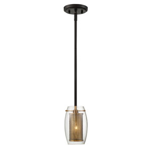 Uptown Warm Brass 5-Inch One-Light Mini Pendant