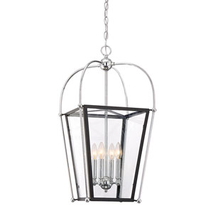 Uptown Matte Black 14-Inch Four-Light Pendant