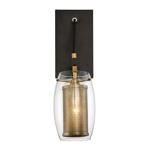 Uptown Warm Brass 5-Inch One-Light Wall Sconce