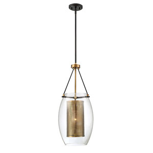 Uptown Warm Brass 12-Inch One-Light Pendant