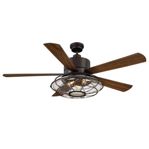 River Station English Bronze Ceiling Fan