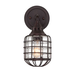 River Station English Bronze 6-Inch One-Light Wall Sconce