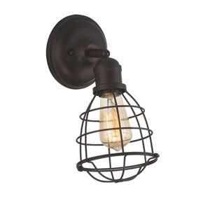River Station English Bronze One-Light Sconce