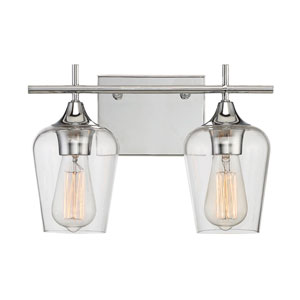 Nicollet Polished Chrome Two-Light Bath Vanity