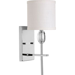 Whittier Polished Chrome 6-Inch One-Light Bath Sconce