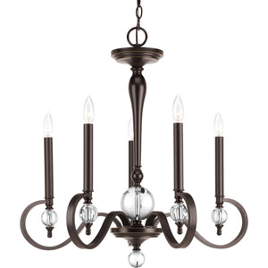 Wellington Antique Bronze Five-Light Chandelier